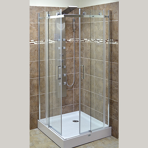 Shower doors canada dreamline butterfly 30 to 31 1 2 for Corner sliding glass doors