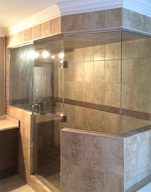 showerhaus | Shower with knee wall